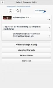 App Android Unternehmensentwicklung Hubert Baumann