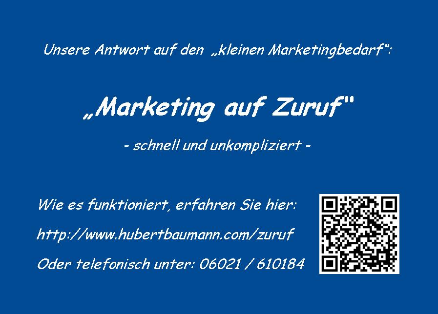 Marketing auf Zuruf