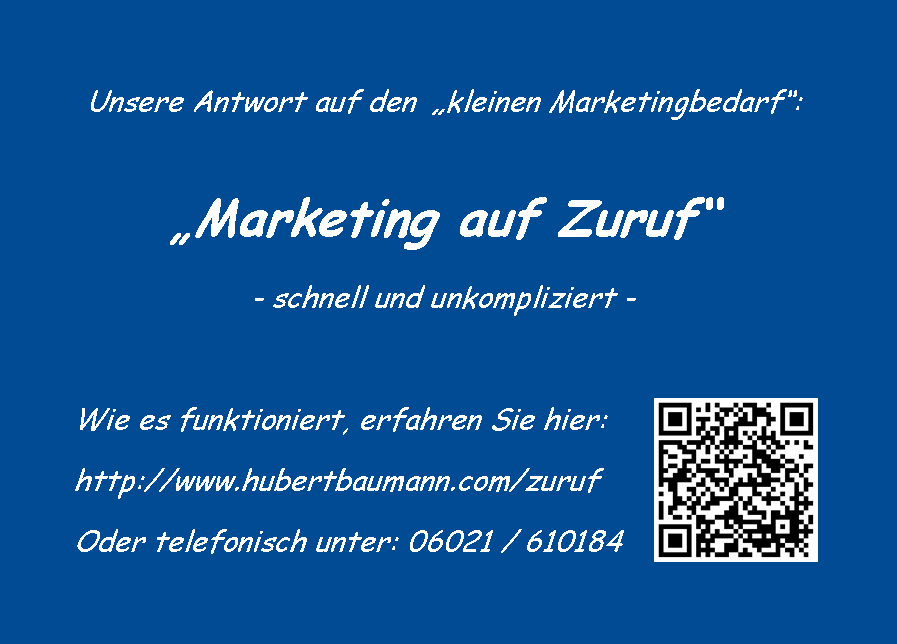 Marketing auf Zuruf